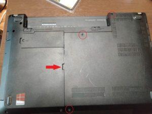 ThinkPad E440裏蓋の外し方