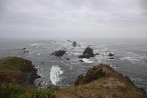 襟裳岬から太平洋を望む